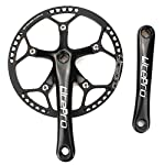 51b4mcF1VaL. SS150 LITEPRO Pieghevole Bici guarnitura 53T 130 BCD Single Speed Crank Set con Copertura Protettiva per Single Speed Bici Pieghevole Track Fixed-Gear manovella Bicicletta (170 MM, Nero)