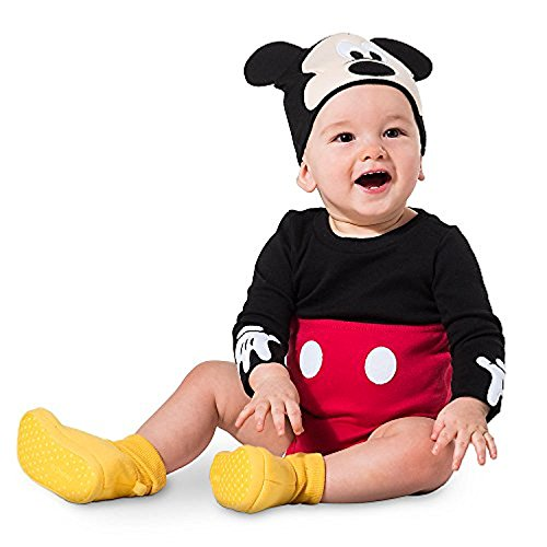 Disney Mickey Mouse Costume Bodysuit Set for Baby Size 3-6 MO Red (Disney Mickey Baby Beanie)