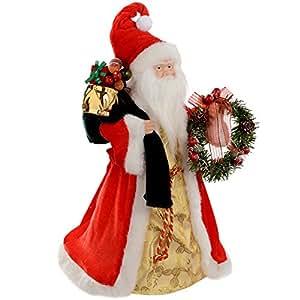werchristmas weihnachtsbaum dekoration weihnachtsbaum spitze weihnachtsmann 40 cm. Black Bedroom Furniture Sets. Home Design Ideas