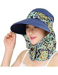 Roll Up Wide Brim Sun Visor UPF 50+ Protección UV Sun Hat con protector de cuello