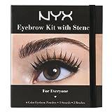 NYX Cosmetics Eyebrow Kit Set With Stenc...