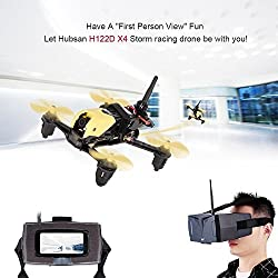 HUBSAN X4 H122D Storm Quadcopter Drone con cámara 1M Micro FPV Racing Drone 3D Flip RC Quadcopter con HV002 Goggle