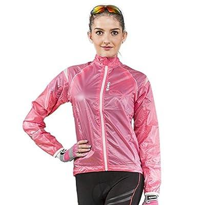 Damen regenjacke wasserdicht atmungsaktiv Wasserfeste langärmelige Regenjacke Radbekleidung Lang Trikot für Reiten Radfahren