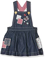 Pumpkin Patch Baby Girls 0-24m Patchwork Denim Pinnie Dress, Blue (Denim), 6-12 Months (Manufacturer Size:6-12M)
