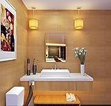 Minifair 500 X650 mm LED Illuminated Bathroom Mirror With Red Sensor And Bluetooth speaker IP44 Rated
