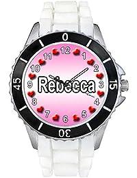 Rebecca Reloj para mujer con correa de silicona negro