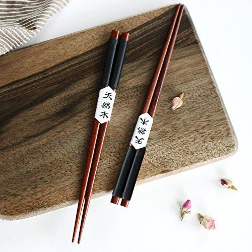 5 paia legno bacchette, per hotel, ristoranti, bacchette giapponese cinese stile sushi regalo bacchette cinesi riutilizzabile , ecologico e sicuro, superficie liscia, alta qualità(rx nero)