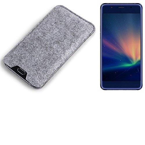 K-S-Trade Filz Schutz Hülle für Hisense A2 Pro Schutzhülle Filztasche Filz Tasche Case Sleeve Handyhülle Filzhülle grau
