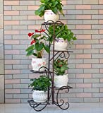 ZENGAI Europeo Puesto De Flores Multicapa Balcón Metal Plantas En Macetas Soporte De Exhibición Jardinería ( Tamaño : 2#-50*102cm )