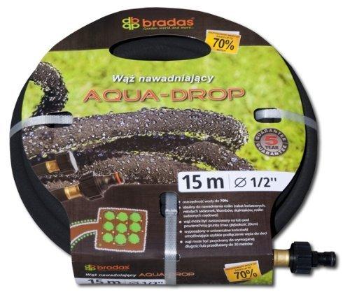 Bradas WAD1/2075 Tropfschlauch Aqua-Drop 1/2 Zoll, 7,5 m Perlschlauch/Gartenschlauch, schwarz, 30 x 30 x 5 cm