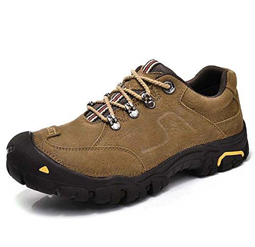 Uomo Pompa Casual Scarpe sportive Punta tonda Lace-up Fondo morbido Scarpe da trekking Scarpe da corsa Outdoor Snekers Eu Taglia 38-45 ( Color : Khaki matte , Size : 42 )