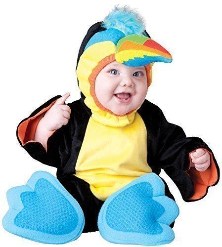 Fancy Me Deluxe Baby Jungen Mädchen Winzig Tukan Papagei Vogel Tier Charakter Halloween Fotoshooting Kostüm Kleid Outfit - Schwarz, 18-24 Months, Schwarz (Mädchen Für Papagei-kostüm)