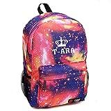 Partiss Unisex KPOP Fashion Starry Himmel Schoolbag Rucksack Schultasche Print Bag,One Size,TARA-Pink