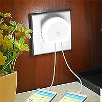 Lichtsteuerung Nachtlampe LED Nachtlicht mit Dual USB Wandladegerät Stecker Stromsparende Dämmerung bis Dämmerung... preisvergleich bei billige-tabletten.eu
