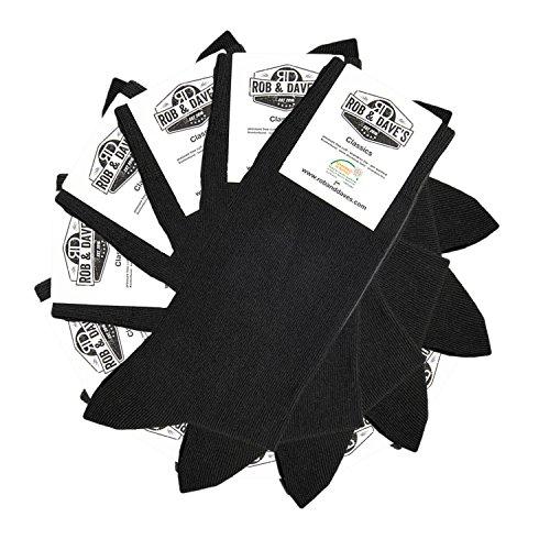 Rob & Dave's ORIGINAL 10 Paar Classic Socken - schwarz für Frau & Mann - Größen von 47-50 - Business & Freizeit Unisex Strümpfe - ohne drückende Naht - angenehmer Komfort-Bund