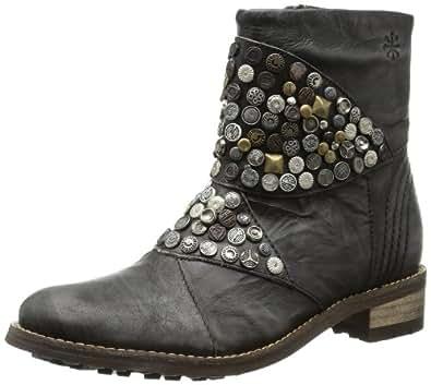 Feud Cain studded ankle boot FW2103, Damen Stiefel, Schwarz (black 999), EU 39 (UK 6)