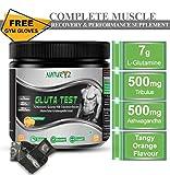 Naturyz GLUTA-TEST Glutamine Supplement 7G Micronized L-Glutamine- Orange Flavour (250Gm)