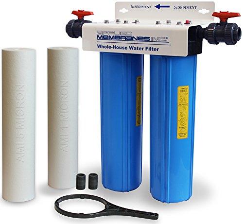 Ganze Haus Wasser Filter System | Doppel-Sediment | Hohe Durchflussmenge | 50,8cm 2-stufige | feines Sediment Filtration entfernt Partikel, auf 1Micron | aufgetragen Membranen fa-220bb-51 -