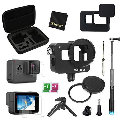 D&F Kit di accessori Custodia protettiva per GoPro Hero 7 Black (solo nero)/HD (2018)/Hero 6/Hero 5 con custodia per il trasporto, stick per selfie, mini treppiede,e altro ancora