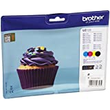 BROTHER - Multipack LC123 4 Cartouches jet d'encre Brother LC123C, LC123M, LC123Y, LC123BK