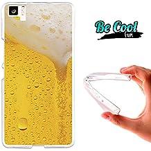 Becool® Fun - Funda Gel Flexible para Bq Aquaris M5 .Carcasa TPU fabricada con la mejor Silicona, protege y se adapta a la perfección a tu Smartphone y con nuestro diseño exclusivo Cerveza rubia