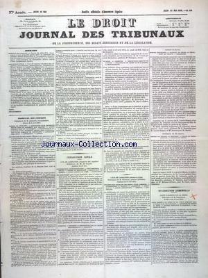 DROIT JOURNAL DES TRIBUNAUX (LE) [No 115] du 15/05/1873 - TRIBUNAL DES CONFLITS - JURIDICTION CIVILE - JURIDICTION CRIMINELLE - TRIBUNAL DES CONFLITS