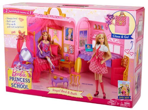 Barbie Mattel V6823 Principessa, Camera da letto e bagno