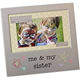 Me and My Sister Photo Frame Brushed Aluminium Juliana Collection