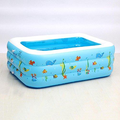 GAOJIAN Triple Anillo Cuadrado Piscina inflable espesada casa de los niños plegable nadar barril Bebé portátil cojín de aire bañera