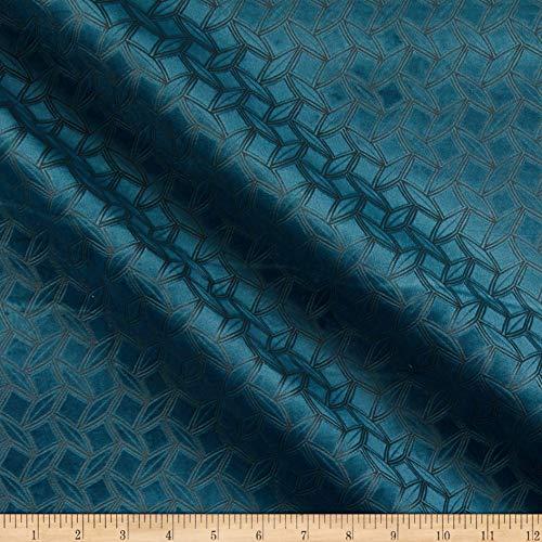 Europatex Prism Embossed Velvet Sea Fabric Stoff, Textil, meeresmotiv, by The Yard -