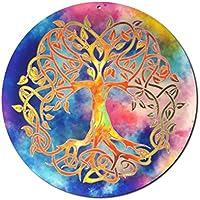 """Sonnenfänger"""" Baum des Lebens"""" Nr. 20. Ø 15cm Glasbild Meditation Aufhänger Fensterbild bruchsicheres Acrylglas Suncatcher Lebensbaum - Geschenk Glücksbringer"""