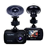 TOGUARD Mini Dash Cam Full HD 1080P Car Blackbox Car Dash Cams DVR Dashboard Camera Built In G-Sensor Motion Detection Loop Recorder Night Vision, SD Card is NOT Included