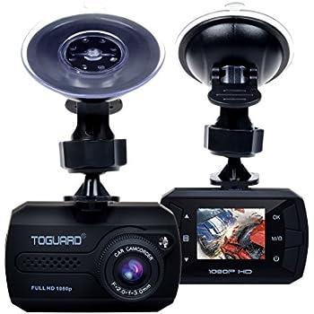 TOGUARD Mini Full HD 1080P Caméra Embarquée Voiture Grand Angle DASHCAM Voiture Appareil Photo Intégré - Dash Cam avec Capteur-G, Enregistrement En Boucle (Carte Micro SD Non Incluse)