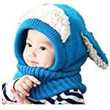 Babybekleidung Hüte & Mützen Longra Niedlich Winter Baby Kinder Mädchen Jungen Warm Woll Haube Kapuze Schal Mützen Hüte (Blue)