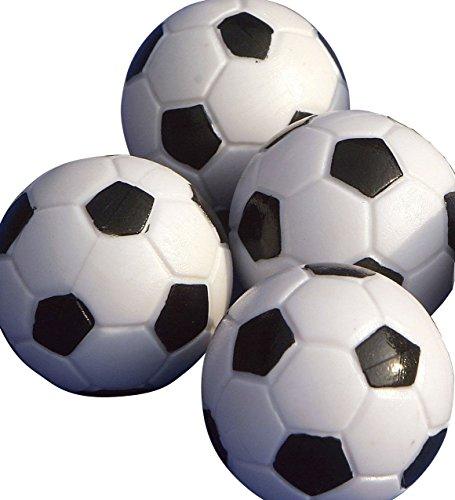Bolas de futbolín Gamesson (4 unidades) - negro/blanco, 32 mm