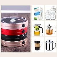 QFFL Coaster Inteligente de Aislamiento de Vidrio/Taza de Bebida termostática Simple Calentador/Taza