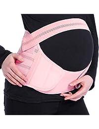 TOPINCN Mutterschaftsg/ürtel Atmungsaktiv Einstellbar Schwangerschaft Bauchband St/ützband Beckenr/ückenunterst/ützung Lindert Schmerzen One Size