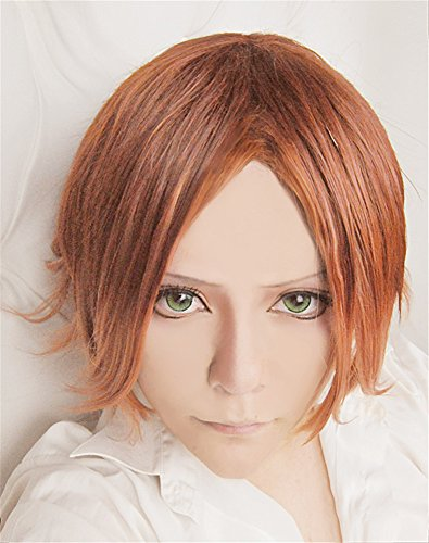 �cke DIABOLIK LOVERS Sakamaki Laito Brown mix Cosplay Party Fashion Anime Human Costume Full wigs Synthetic Haar Heat Resistant Fiber ()