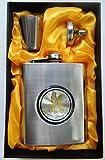 COFFRET Cadeau chasseur fiole flasque whisky jack métallique + gobelet + entonnoir