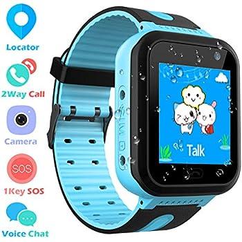 Smartwatch Impermeable para niños para niñas: Amazon.es ...