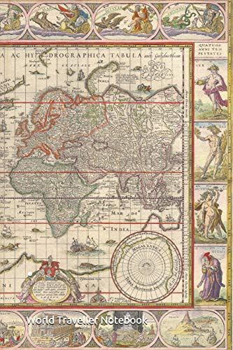 World Traveller Notebook: Explore the World with the Old World Map  Composition Notebook  Dotted lines, no margins, 120 pages, 6 by 9 inches   Pages