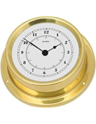 Fischer Horloge marine à quartz, laiton poli, diamètre 125 mm