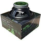 XPL XW10-403 XW10 403 altoparlante diffusore medio basso woofer 25,00 cm 250 mm 10' di diametro 300 watt rms 600 watt max impedenza 4 ohm 105 db auto casa dj party nero 1 pezzo