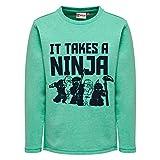 Lego Wear Jungen Sweatshirt Ninjago Sebastian 301, Grün (Green 856), 134