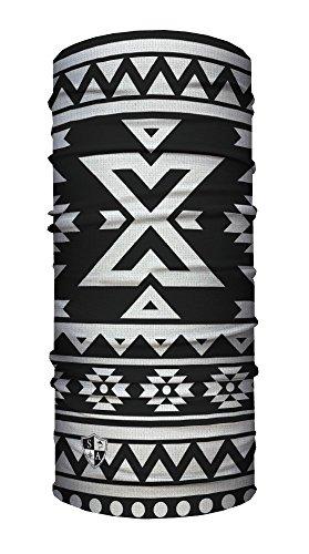 SA Face Shield Multi Function Mask Scarf Bandana Aztec Black & White - THE ORIGINAL -
