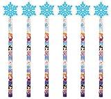 6 Ice Princesse Crayons & Gomme - La reine des neiges Pinata Caoutchoucs Présent/Pochette Surprise