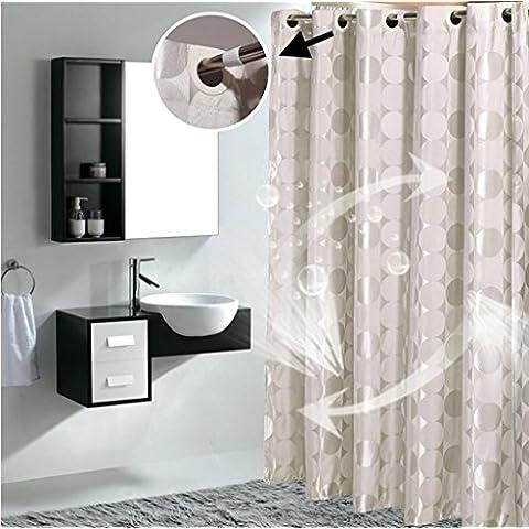 GYMNLJY tessuto jacquard tenda doccia Grande buco impermeabile ispessimento casa cortina di tagliare Hanging tenda ,