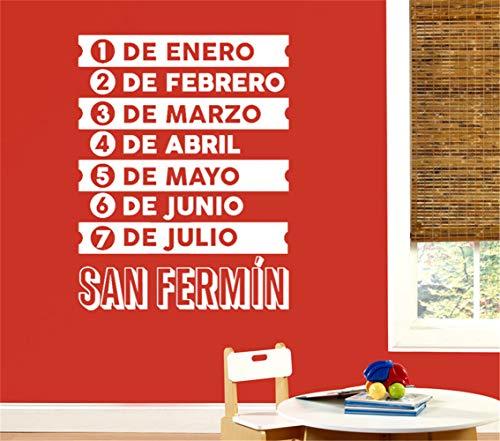 stickers muraux 3d Date Horaire Espagnol Acheter Original San Fermin Pour Le Salon Chambre
