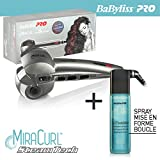 BaByliss Pro-Lockenstab miracurl steamtech bab2665se Dampf The Perfect Curl Maschine mit einem Spray Curl Foundation 177ml-Palette Profi