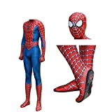 JUFENG Raimi Spiderman Kostuum Costume 3D Print Full Body Halloween Cosplay Suit Soletta Lens Mask per Bambini Adulti Costume di Halloween,A-L